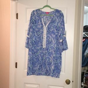 Lily Pulitzer blue dress size xl